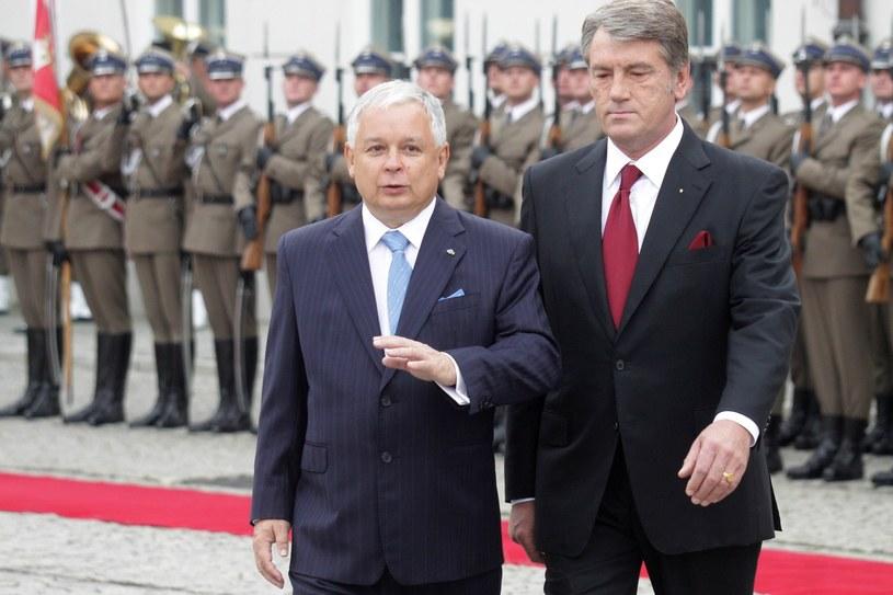 Lech Kaczyński i Wiktor Juszczenko /Witold Rozbicki /Reporter