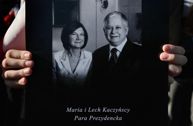 Lech Kaczyński z małżonką /AFP