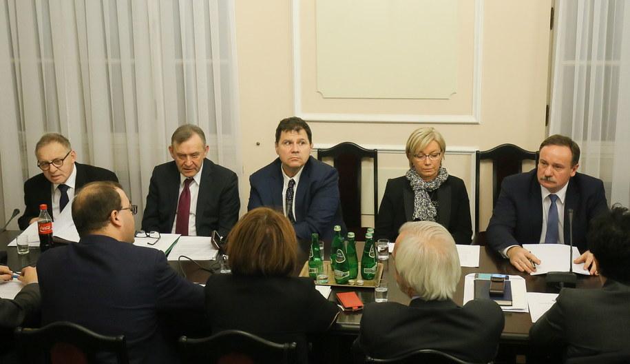Lech Morawski, Henryk Cioch, Mariusz Muszyński, Julia Przyłębska i Piotr Pszczółkowski /PAP/Paweł Supernak /PAP