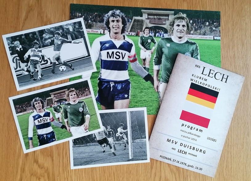 Lech Poznań - MSV Duisburg - program i zdjęcia wydane przez kolekcjonera na rocznicę meczu w europejskich pucharach /materiały prasowe