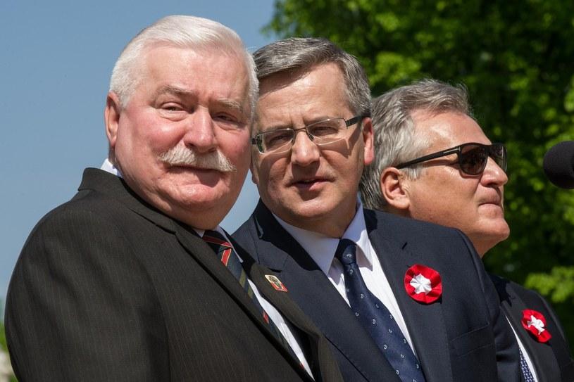 Lech Wałęsa, Bronisław Komorowski i Aleksander Kwaśniewski /Bartosz Krupa /East News