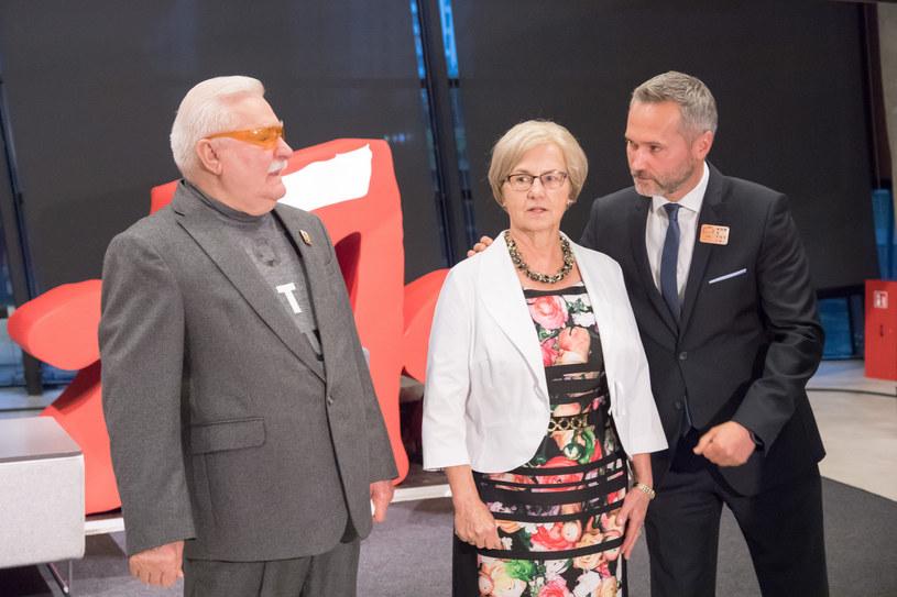 Lech Wałęsa, Danuta Wałęsa, Jarosław Wałęsa /Wojciech Strozyk/ /Reporter