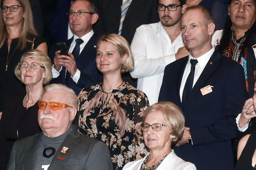 Lech Wałęsa, Danuta Wałęsa, Magdalena Wałęsa /Lukasz Dejnarowicz /Agencja FORUM
