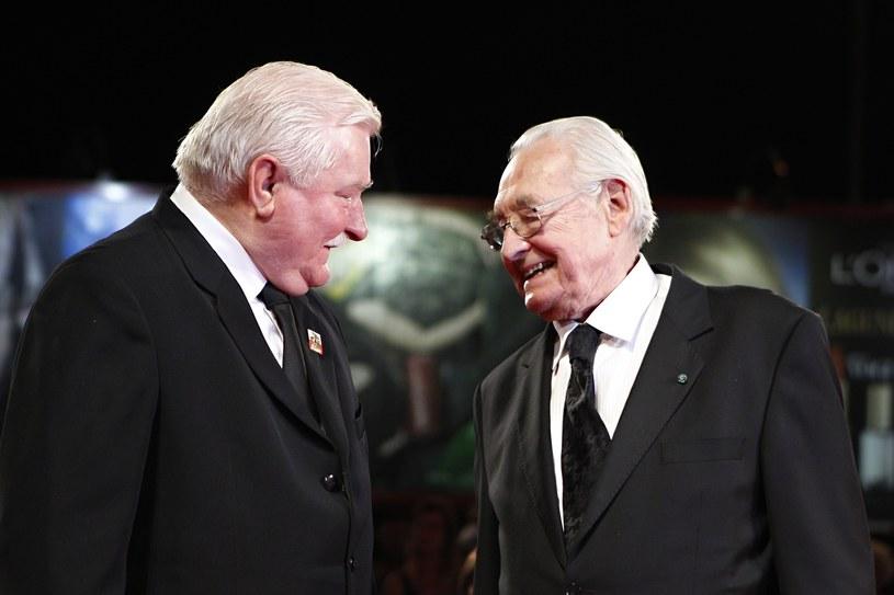Lech Wałęsa i Andrzej Wajda /AP Photo/Andrew Medichini /East News