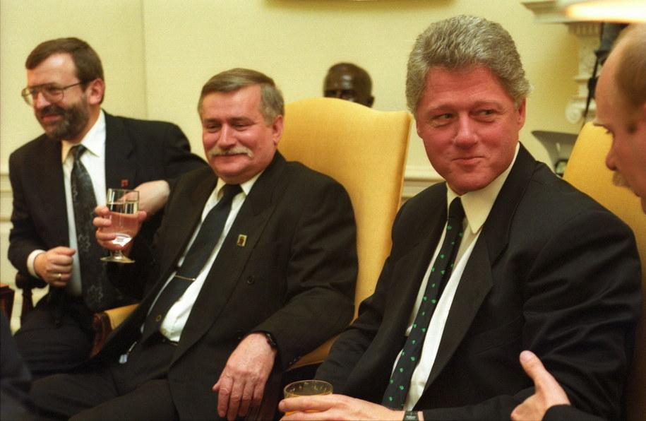 Lech Wałęsa i Bill Clinton (zdj. arch.) /Maciej Belina Brzozowski /PAP