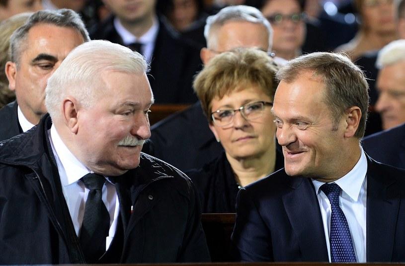 Lech Wałęsa i Donald Tusk /AFP