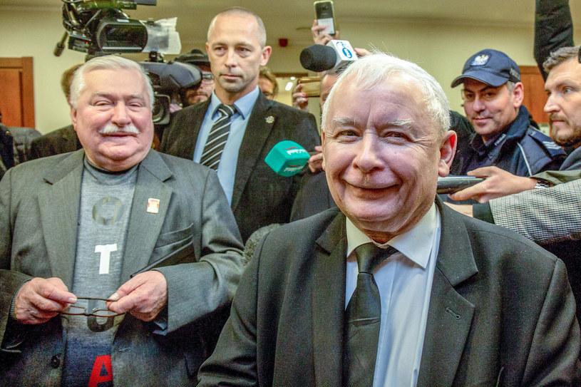 Lech Wałęsa i Jarosław Kaczyński /Piotr Hukalo /East News