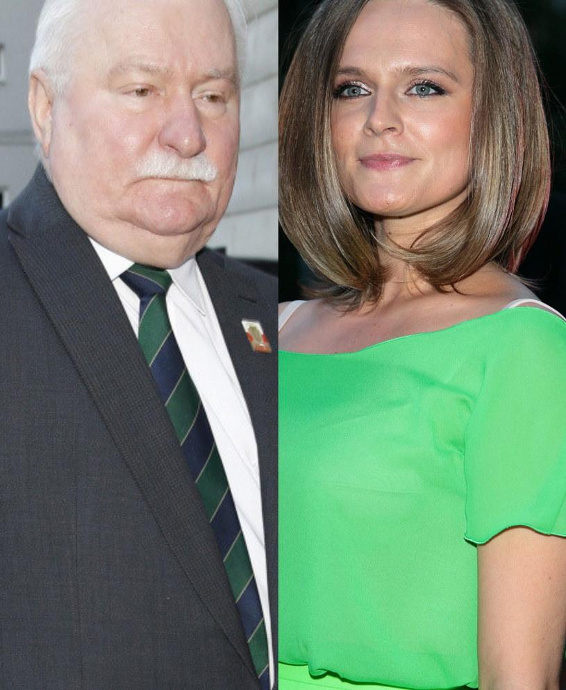 Lech Wałęsa i jego córka /ForumGwiazd.com.pl   /Agencja FORUM