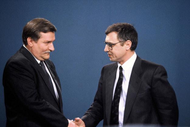 Lech Wałęsa i Stanisław Tymiński w walce o fotel prezydencki /East News