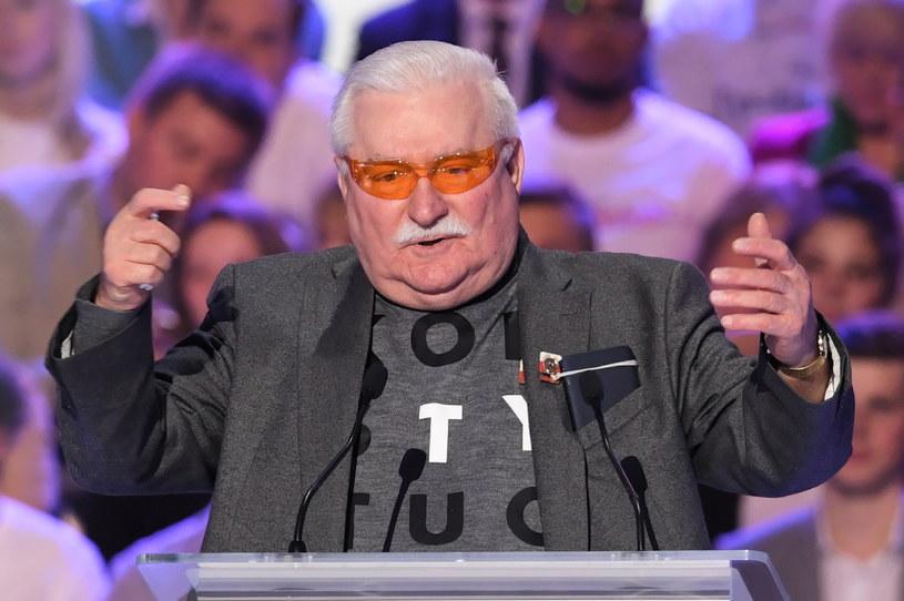 Lech Wałęsa na konwencji KO w Warszawie / Radek Pietruszka   /PAP