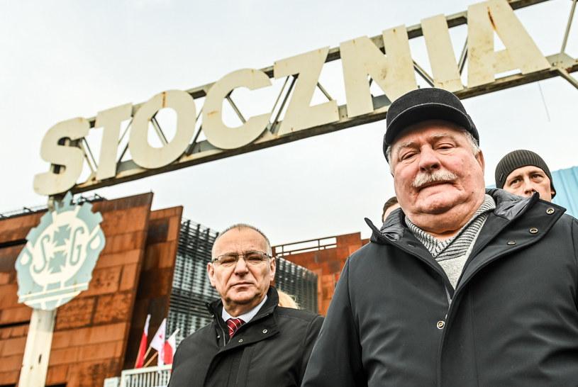 Lech Wałęsa na Placu Solidarności w Gdańsku /Karolina Misztal /Reporter