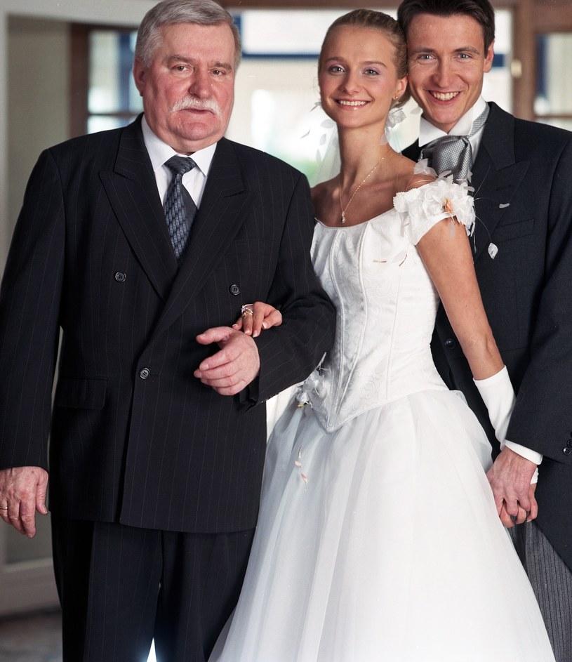 Lech Wałęsa na ślubie córki Magdaleny. /Michał Dembiński /Agencja FORUM