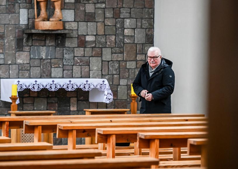 Lech Wałęsa podczas mszy w gdańskim kościele, 29 marca 2020 r. /Karolina Misztal /Reporter