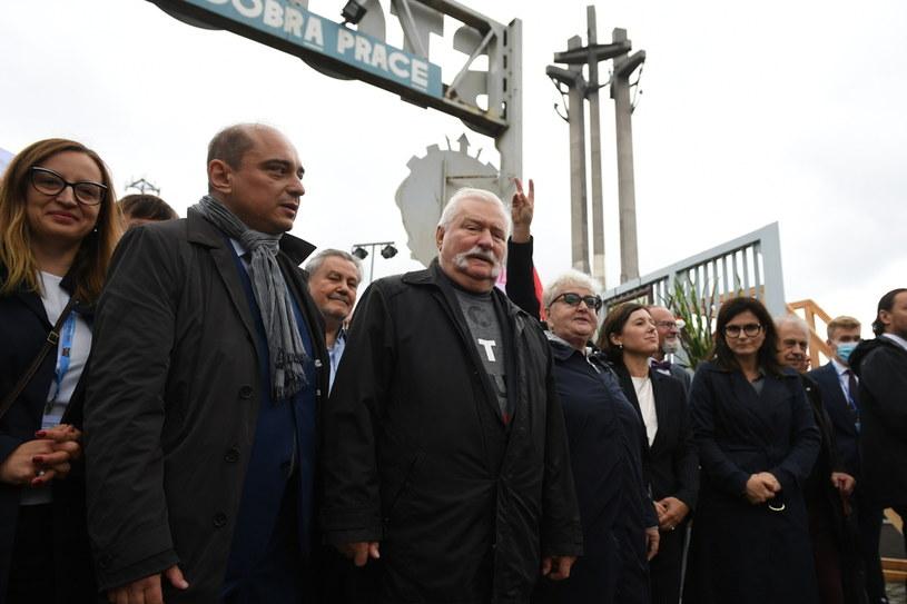 Lech Wałęsa podczas obchodów 41. rocznicy podpisania porozumień sierpniowych /PAP