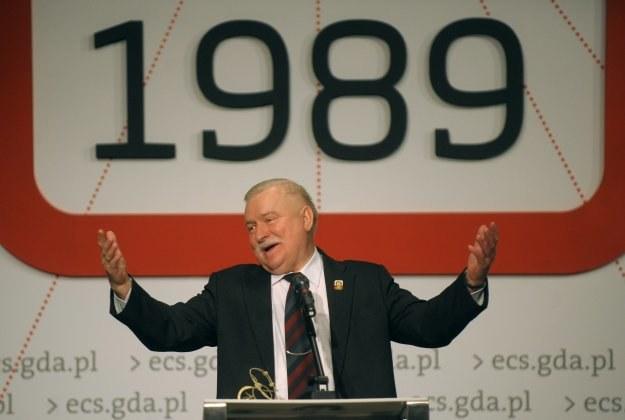 Lech Wałęsa podczas obchodów rocznicy wyborów 1989 r. /AFP