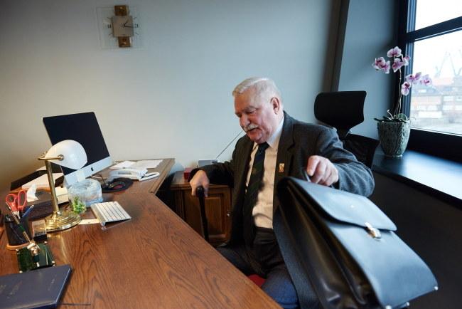 Lech Wałęsa w Europejskim Centrum Solidaności /PAP/Adam Warżawa    /PAP
