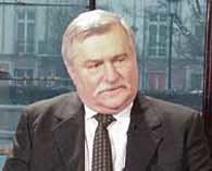 Lech Wałęsa w kawiarni na Krakowskim Przedmieściu 27, fot. M. Wójcicki /RMF