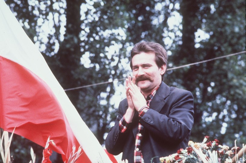 Lech Wałęsa w latach '80 /PETER KNOPP /East News