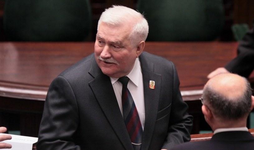 Lech Wałęsa w Sejmie /Piotr Bławicki /East News
