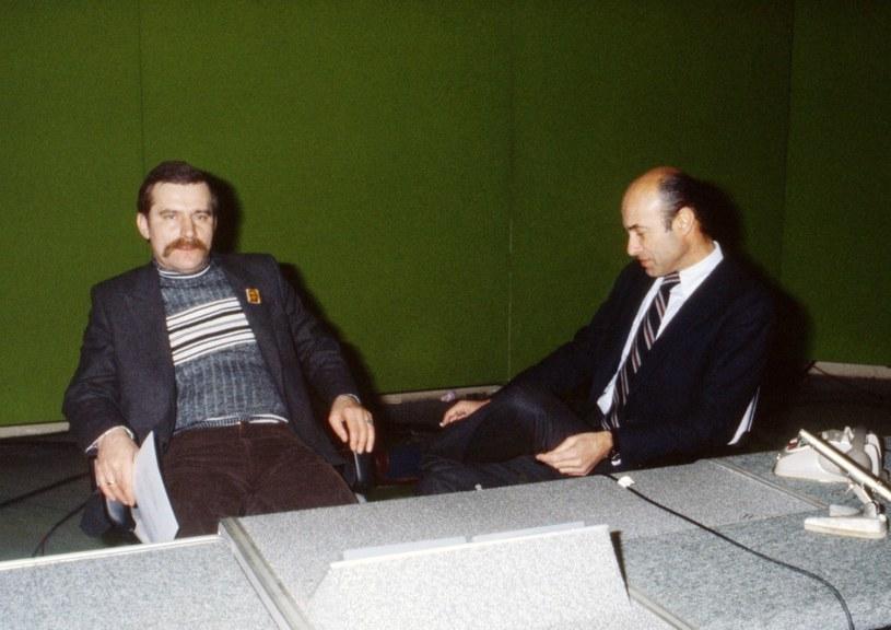Lech Wałęsa we Włoszech, wywiad dla telewizji RAI; Rzym, 16.01.1981 /Wojtek Laski /East News