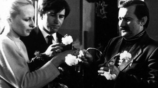 """Lech Wałęsa zagrał w """"Człowieku z żelaza"""" samego siebie. Teraz wcieli się w niego Robert Więckiewicz /East News"""