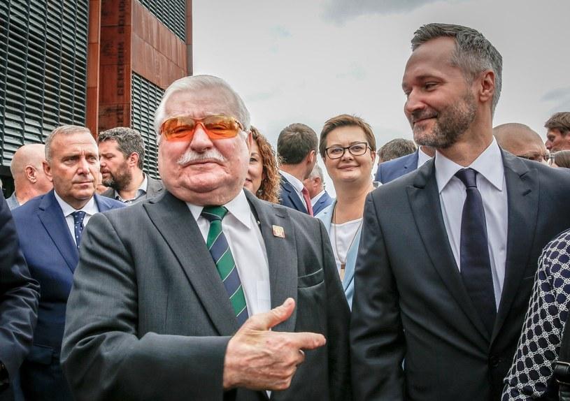Lecha Wałęsa z synem Jarosławem /Karolina Misztal /Reporter