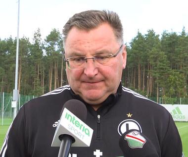Lechia-Legia. Czesław Michniewicz: Sztanga jest dzisiaj w naszych rękach i musimy ją unieść. Wideo