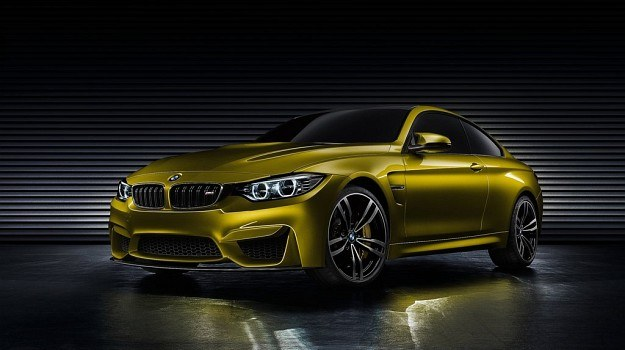 """LED-owe przednie lampy, grafitowe wykończenie """"nerek"""" i imponujące wloty powietrza o strukturze plastra miodu natychmiast pozwalają odróżnić BMW M4 od słabszych wersji serii 4. Produkcyjna wersja modelu zachowa prawdopodobnie niemal wszystkie detale prototypu. /BMW"""