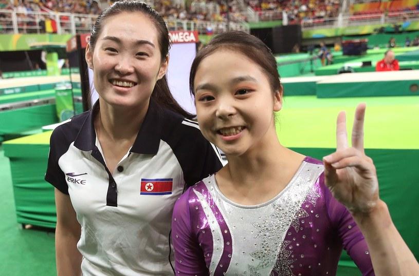 Lee Eun-ju z Korei Południowej (z prawej) i Hong un-Jong z Korei Północnej /East News