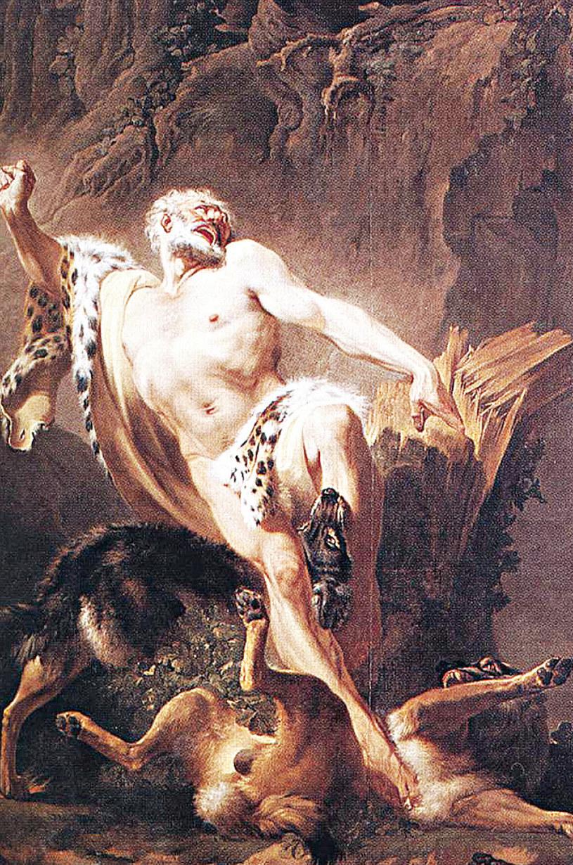 Legenda głosi, że Milon zginął rozszarpany przez sforę wilków /21 wiek - history