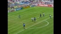 Legendarny mecz Maradony przeciwko Anglii na MŚ w 1986 roku. Z tego występu został zapamiętany najlepiej.