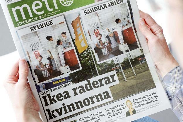 """Legendarny szwedzki dziennik """"Metro"""" jest na skraju bankructwa /AFP"""