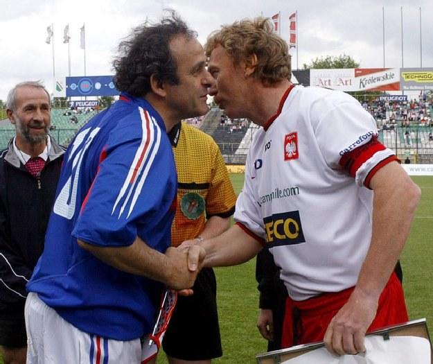 Legendy futbolu: Michel Platini i Zbigniew Boniek /AFP