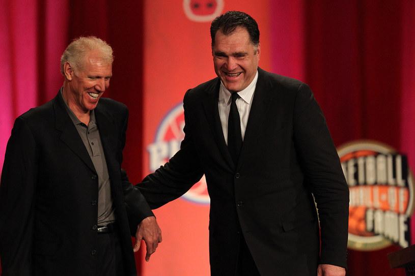 Legendy koszykówki: Bill Walton (z lewej) i Arvydas Sabonis /AFP