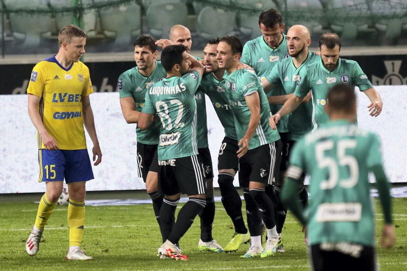 Legia aż pięć razy mogła się cieszyć po golach /PAP/Leszek Szymański /PAP
