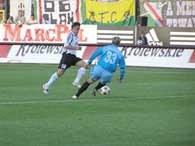 Legia mogła wygrać wyżej - na zdjęciu sytuacja Saganowskiego /INTERIA.PL