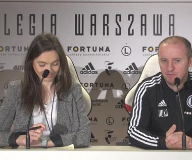 Legia. Vuković: Przed starciami z Miedzią w Pucharze Polski i Lechem w PKO Ekstraklasie. Wideo