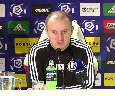 Legia Warszawa. Aleksandar Vuković: Jedna chwila może zmienić bardzo dużo. Wideo