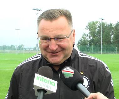 Legia Warszawa. Czesław Michniewicz odpowiada Interii: Bardziej uwierzyłbym, że... Wideo