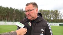 Legia Warszawa. Czesław Michniewicz odpowiada Interii: Na razie konkretów nie ma. Wideo
