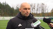Legia Warszawa. Marek Gołębiewski: Każdy ma taką samą szansę. Wideo