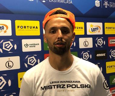 Legia Warszawa. Mateusz Wieteska: Mecz był pod nasze dyktando. Wideo