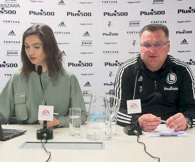 Legia Warszawa. Trener Czesław Michniewicz przed meczem z Górnikiem Zabrze. Wideo