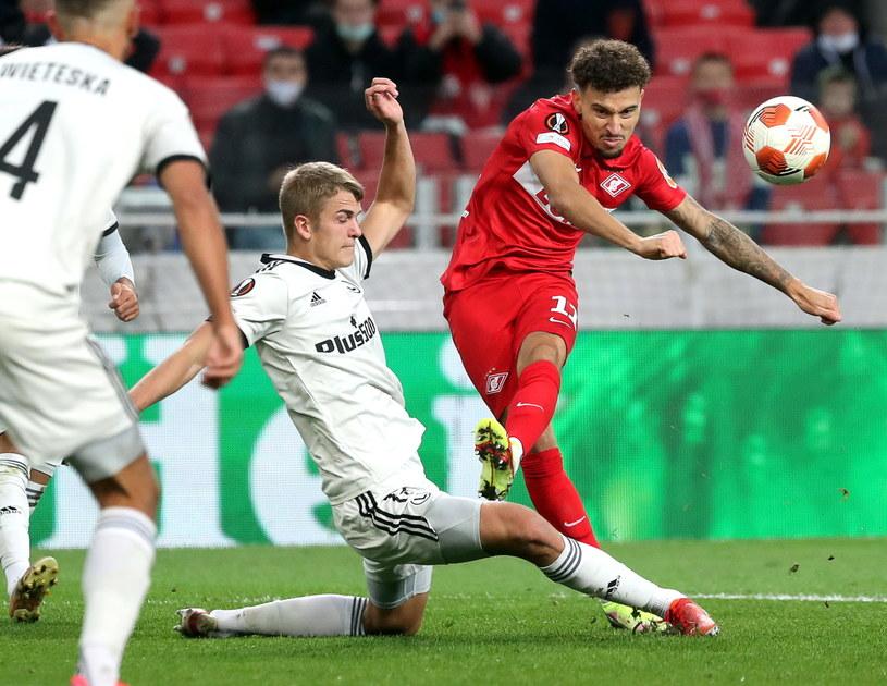Legia Warszawa w meczu ze Spartakiem Moskwa /PAP/EPA/MAXIM SHIPENKOV /East News
