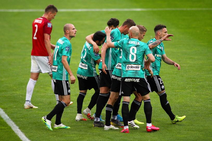 Legia Warszawa zmierza po mistrzostwo Polski /PAP/Łukasz Gągulski /PAP
