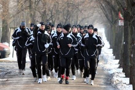 Legioniści na pierwszym treningu w 2008 roku. Fot. Piotr Kucza /Agencja Przegląd Sportowy