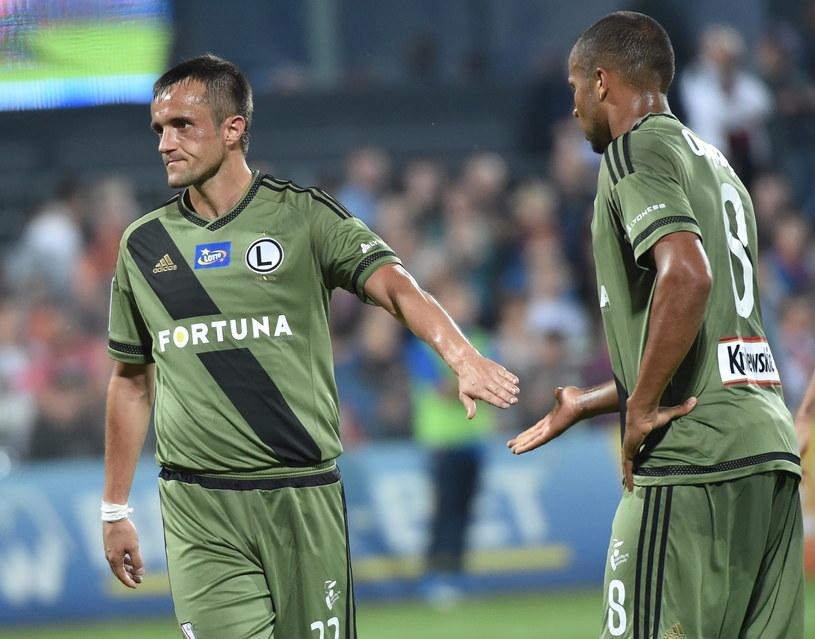 Legioniści ostatnio zaliczyli wpadkę w lidze przegrywając w Niecieczy 1-2 /fot. Jacek Bednarczyk /PAP