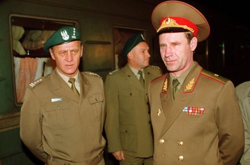 Legnica - wycofywanie wojsk rosyjskich z Polski, wrzesień 1993 roku /Janek Skarżyński /Reporter
