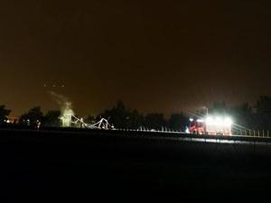 Legnica: Wypadek ciężarówek na A4. Jedna z nich przewoziła łatwopalny ładunek