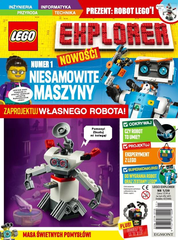 LEGO EXPLORER - magazyn dla dzieci w duchu edukacji STEM /INTERIA.PL/materiały prasowe